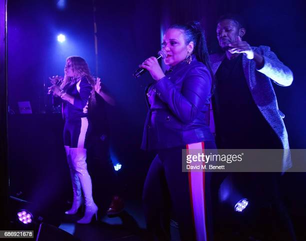 Salt 'n' Pepa perform at the Tory Burch Regent Street opening After Party at Isabel on May 22 2017 in London England