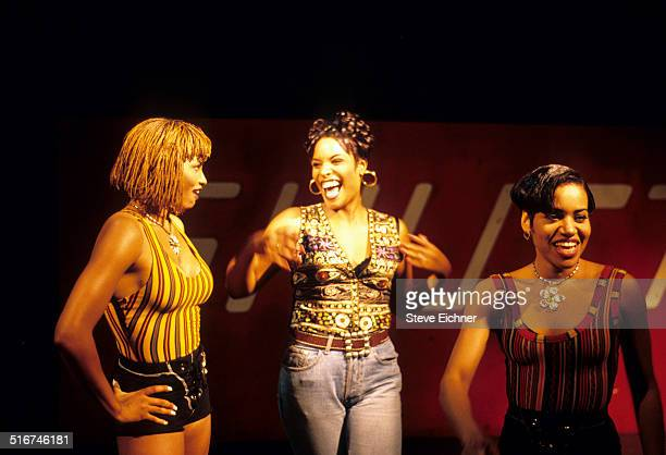 Salt N Pepa video shoot for Schoop at Club USA New York August 31 1993