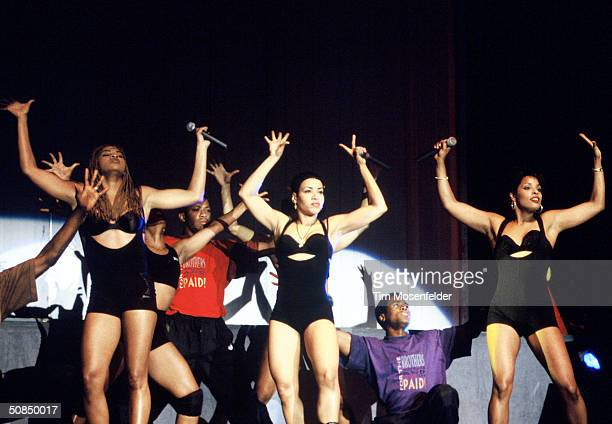 Salt N Peppa performing at The Redwood Amphitheater at Great America in Santa Clara California on June 17 1994