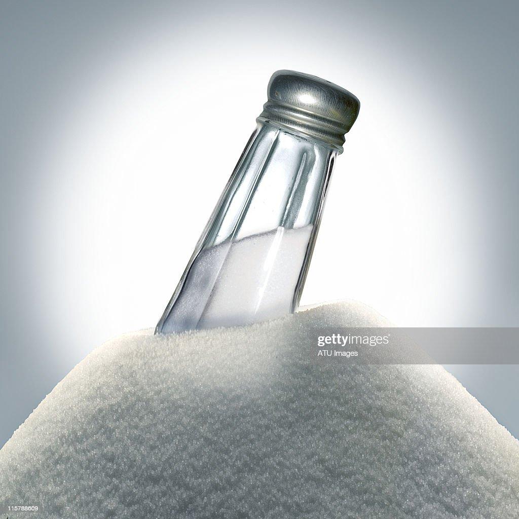 Salt on pile
