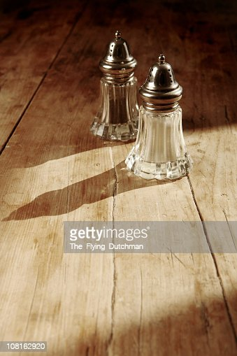 Salt & Pepper, Rustic : Stock Photo