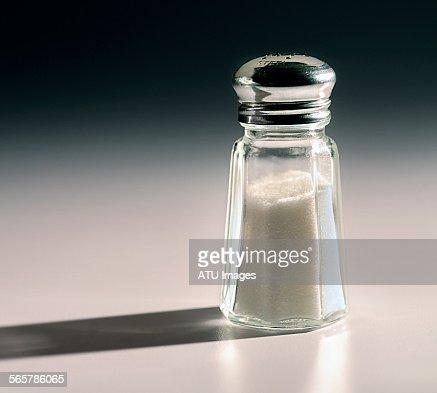 Salt shaker with shadow