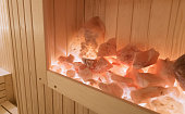 Salt stones in sauna beneficial in penuomnia treatment