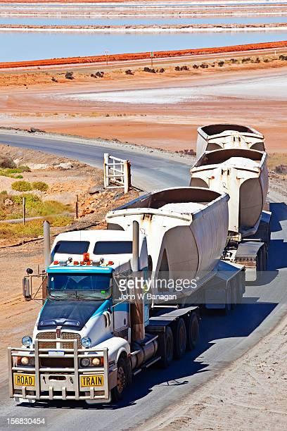 Salt transportation, Port Hedland, W.A.