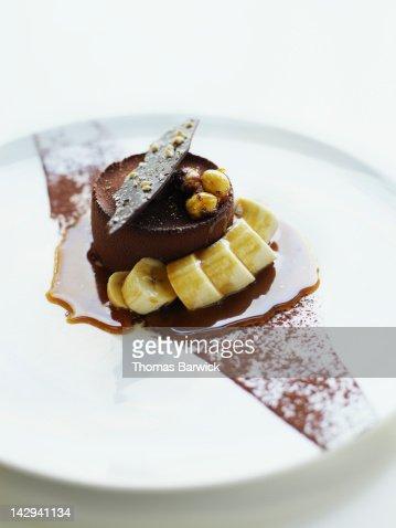 Salted caramel and hazelnut mousse cake