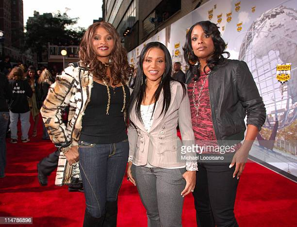 SaltNPepa during 2006 VH1 Hip Hop Honors Red Carpet at Hammerstein Ballroom in New York City New York United States