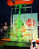 SaltNPepa gets slimed the Nickelodeon sponsored 90sFEST Pop Culture and Music Festival on September 12 2015 in Brooklyn New York