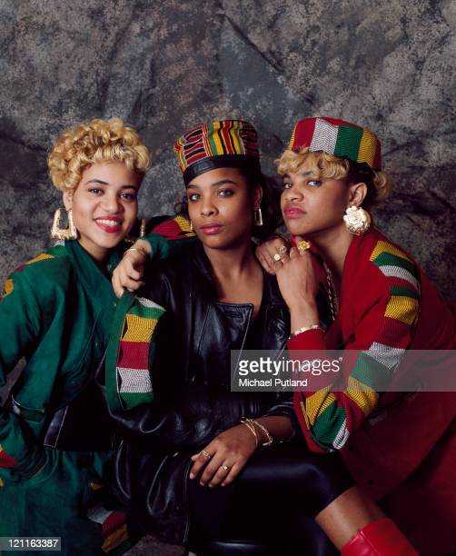 SaltnPepa studio group portrait London 1989
