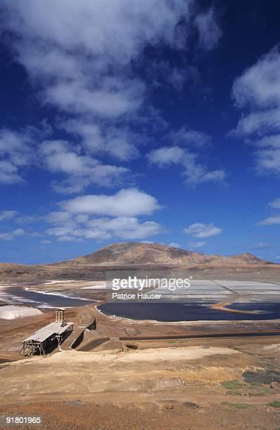 Saltworks on Sal Island, Cape Verde