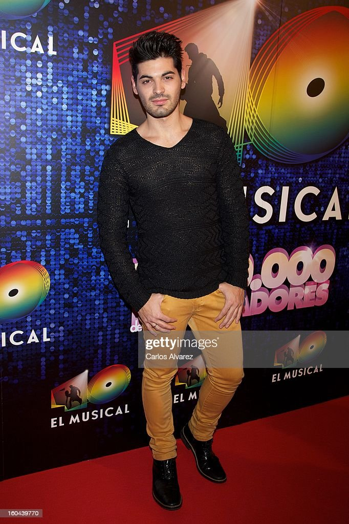 Salva Ortega attends '40 El Musical' premiere at the Rialto Theater on January 31, 2013 in Madrid, Spain.