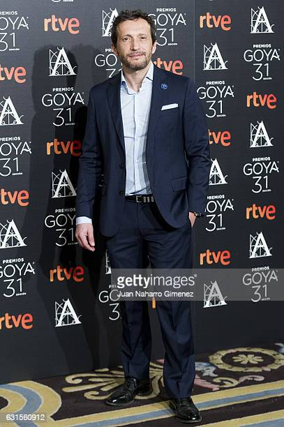 Salvador Calvo attends Goya Awards Candidates 2016 Cocktail at Ritz Hotel on January 12 2017 in Madrid Spain