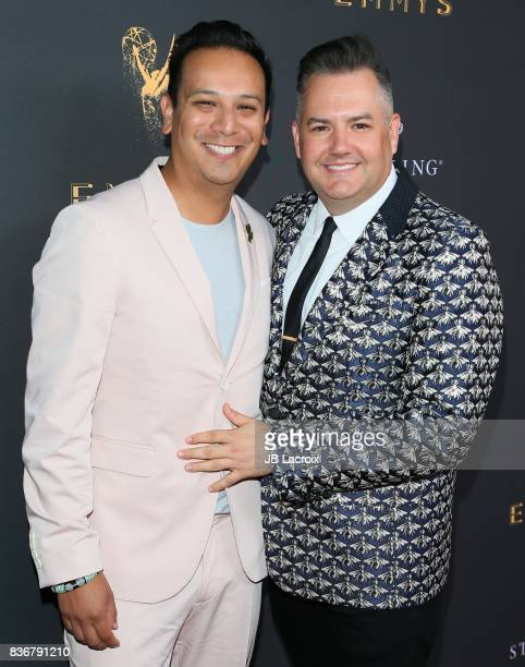 Salvador Camarena and Ross Mathews attend the Television Academy's Performers Peer Group Celebration on August 22 2017 in Los Angeles California