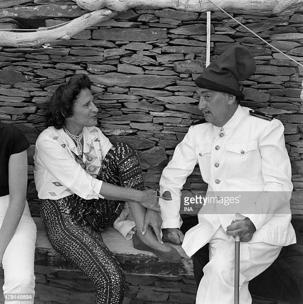 Salvador Dali and his wife Gala with Port Lligat during the shooting of the program ''Closeup'' who is dedicated to him