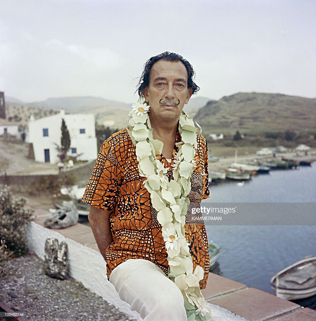 Salvador Dali in Figueres Spain The artist in his home