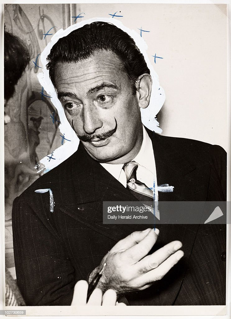 Salvador Dali in London 2 December 1951 A photograph of the artist Salvador Dali taken by Greaves for the Daily Herald newspaper Taken whilst...