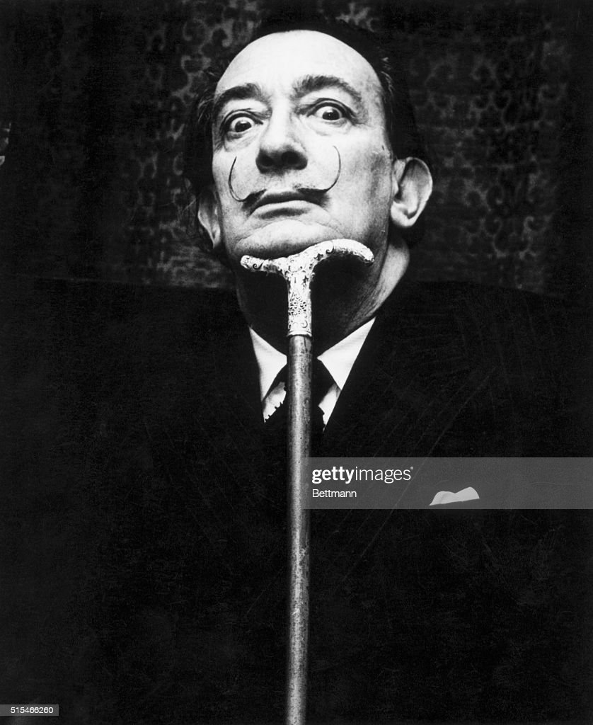 Salvador Dali (1904-89), Spanish surrealist painter. Photograph, ca. 1950s-1960s.