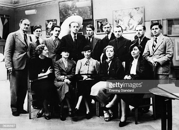 Salvador Dali Spanish Surrealist painter with other artists at the first Surrealist Exhibition to be held in London Back row from left are Rupert Lee...