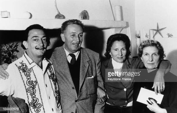 Salvador DALI Walt DISNEY GALA the wife of DALI and Mrs DISNEY The famous painter Salvador DALI met Walt DISNEY in Cadaques a small Spanish village...