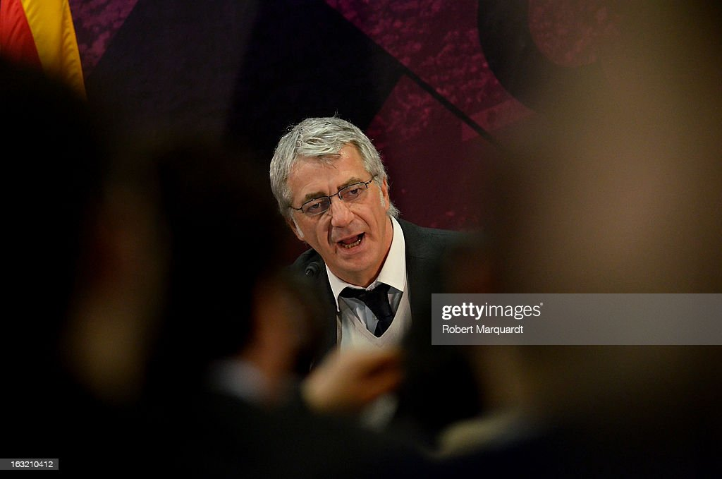 Salvador Garcia attends the press presentation of the 'FCBVirtualTour' at Camp Nou on March 6, 2013 in Barcelona, Spain. The online virtual tour will allow users to view and interact with digital content of the Barcelona Football Club facilities.