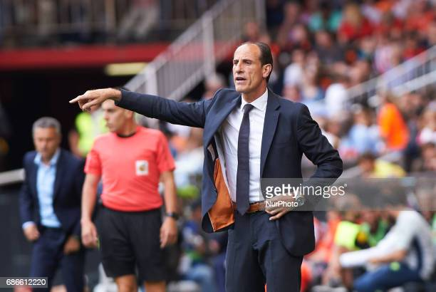 Salvador Gonzalez Voro head coach of Valencia CF during their La Liga match between Valencia CF and Villarreal CF at the Mestalla Stadium on 21th May...