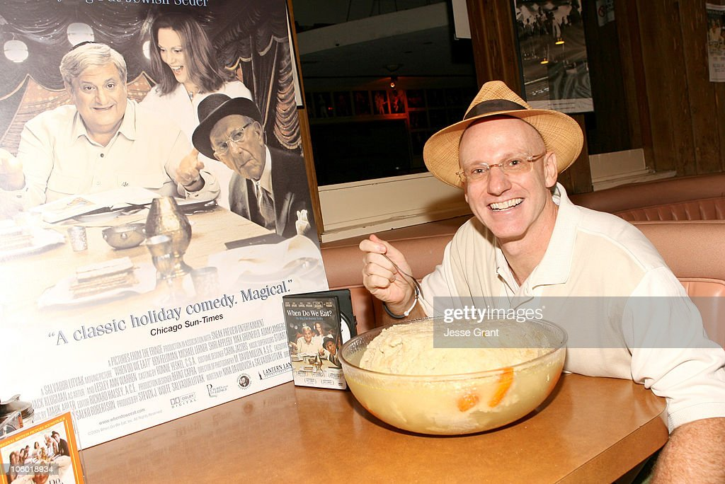 Salvador Litvak writer/director during The World's Largest Matzo Ball at the DVD Launch of 'When Do We Eat' at Canters Delicatessen in Los Angeles CA...