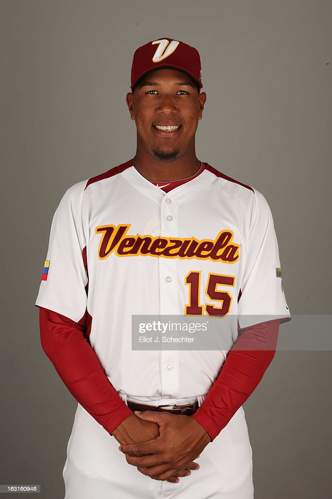 Salvador Perez #15 of Team Venezuela poses for a headshot for the 2013 World Baseball Classic at Roger Dean Stadium on Monday, March 4, 2013 in Jupiter, Florida.