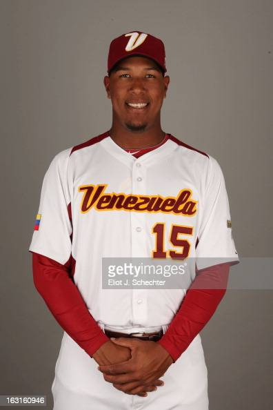 Salvador Perez of Team Venezuela poses for a headshot for the 2013 World Baseball Classic at Roger Dean Stadium on Monday March 4 2013 in Jupiter...