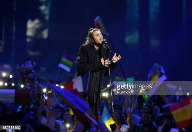 Salvador Sobral from Portugal performs with the song quotAmar Pelos Doisquotduring the Grand Final of the Eurovision Song Contest in Kiev Ukraine 13...