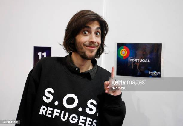 Salvador Sobral from Portugal poses for a photo prior rehearsal for the Grand Final of the Eurovision Song Contest in Kiev Ukraine 12 May 2017 The...