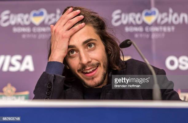 Salvador Sobral the winning contestant from Portugal at the winner's press conference at the Eurovision Grand Final on May 14 2017 in Kiev Ukraine...