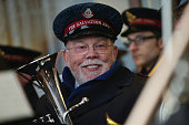 Salvation Army band member is seen prior to the Barclays Premier League match between Sunderland and Watford at the Stadium of Light on December 12...
