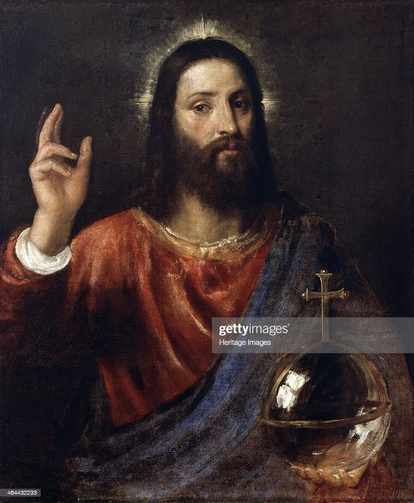 'Salvator Mundi ' c1570 Titian Found in the collection of the State Hermitage St Petersburg