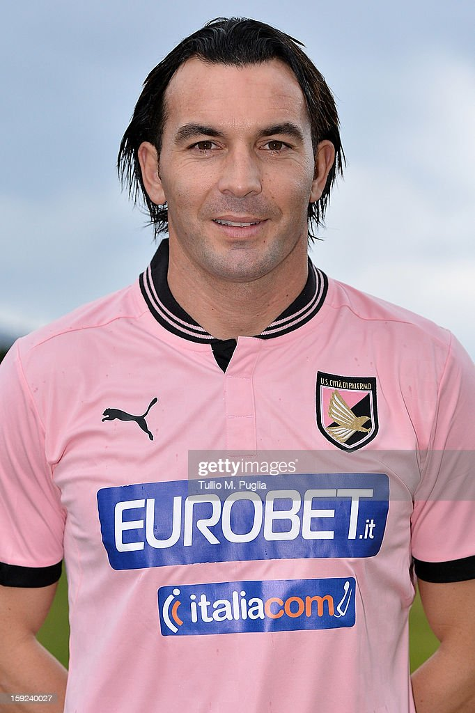 Salvatore Aronica of US Citta di Palermo poses for the team's official headshots before a training session at Tenente Carmelo Onorato Sports Center on January 10, 2013 in Palermo, Italy.
