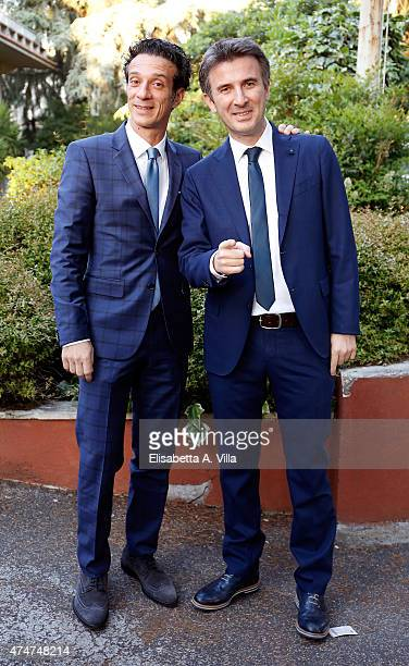 Salvatore Ficarra and Valentino Picone arrive at PREMIO TV 2015 Awards at RAI Dear Studios on May 25 2015 in Rome Italy