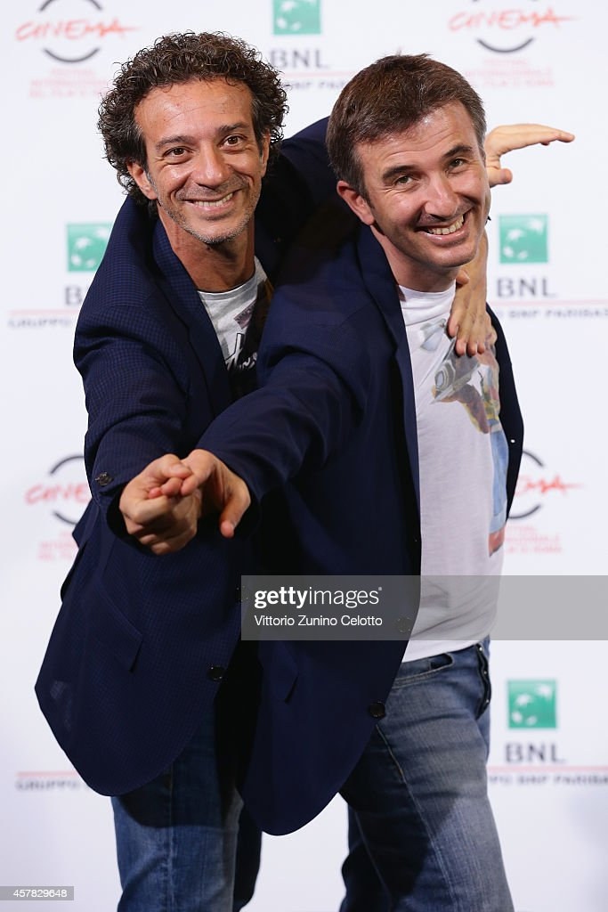 Salvatore Ficarra and Valentino Picone attend the 'Andiamo A Quel Paese' Photocall during the 9th Rome Film Festival on October 25, 2014 in Rome, Italy.