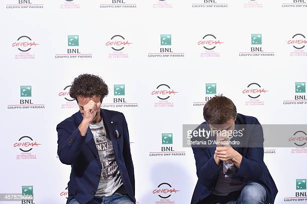 Salvatore Ficarra and Valentino Picone attend the 'Andiamo A Quel Paese' Photocall during the 9th Rome Film Festival on October 25 2014 in Rome Italy