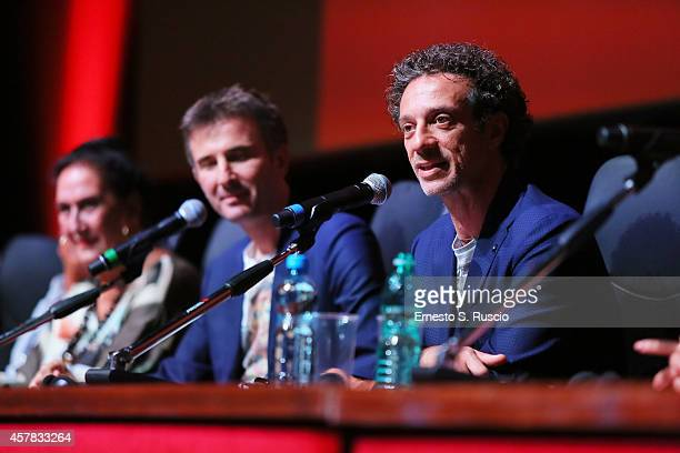 Salvatore Ficarra and Valentino Picone attend the 'Andiamo A Quel Paese' Press Conference during the 9th Rome Film Festival on October 25 2014 in...