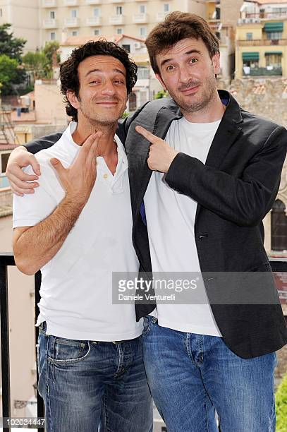 Salvatore Ficarra and Valentino Picone attend the Taormina Film Fest 2010 Photocall on June 13 2010 in Taormina Italy
