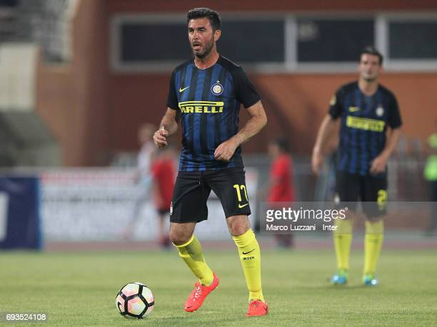 Salvatore Fresi of Inter Forever in action during the friendlt match between Greece 2004 and Inter Forever at Pankrition Stadium on June 7 2017 in...