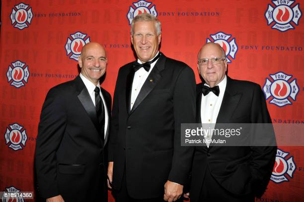Salvatore J Cassano Louis R Chenevert and Stephen L Ruzow attend FDNY Foundation Dinner Honoring LOUIS R CHENEVERT and FDNY USAR Team at New York...