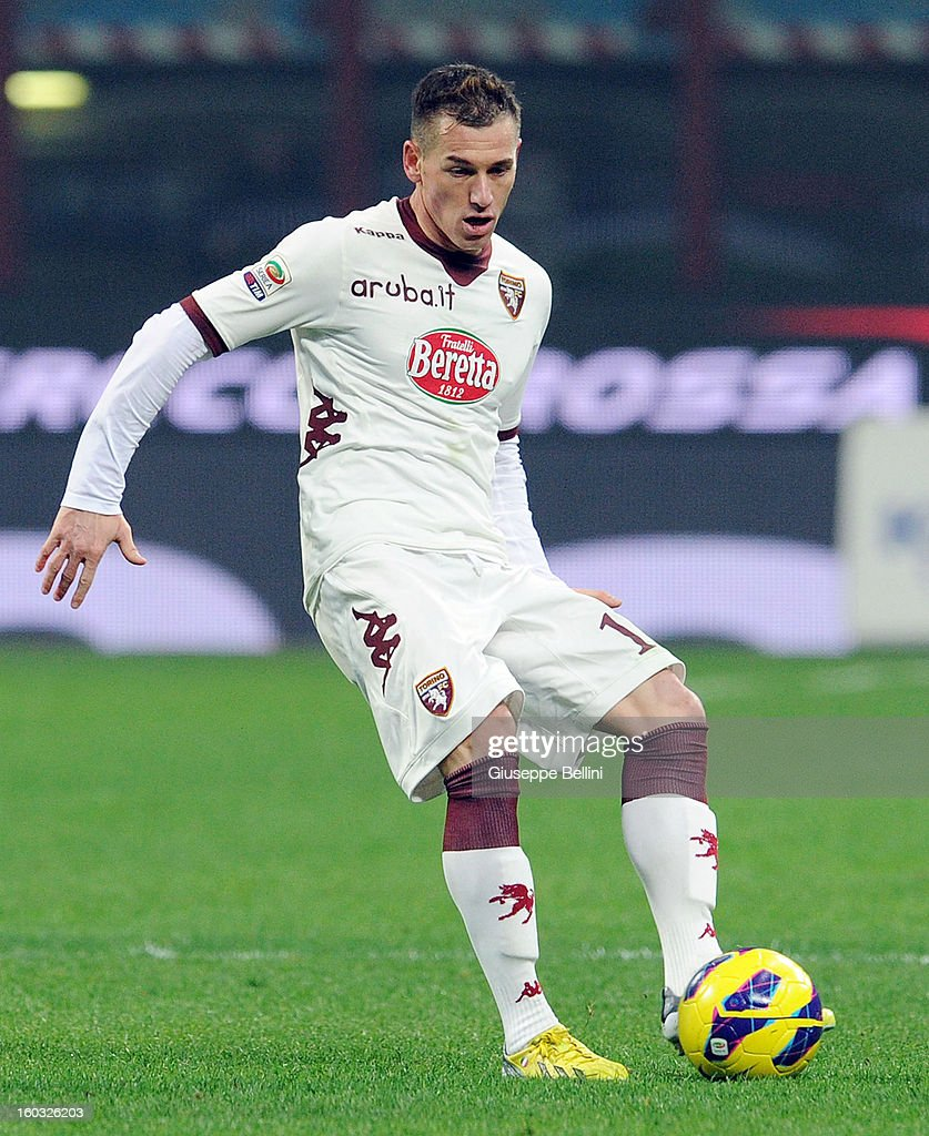 Salvatore Masiello of Torino in action during the Serie A match between FC Internazionale Milano and Torino FC at San Siro Stadium on January 27, 2013 in Milan, Italy.