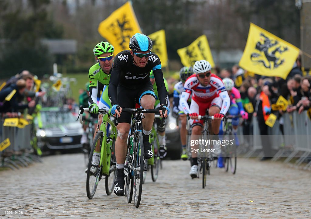 Salvatore Puccio of Italy and SKY Procycling in action during the 97th Tour of Flanders from Brugge to Oudenaarde on March 31, 2013 in Oudenaarde, Belgium.