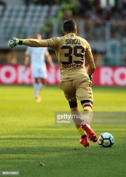 Salvatore Sirigu during Serie A match between Torino v Roma in Turin on October 22 2017