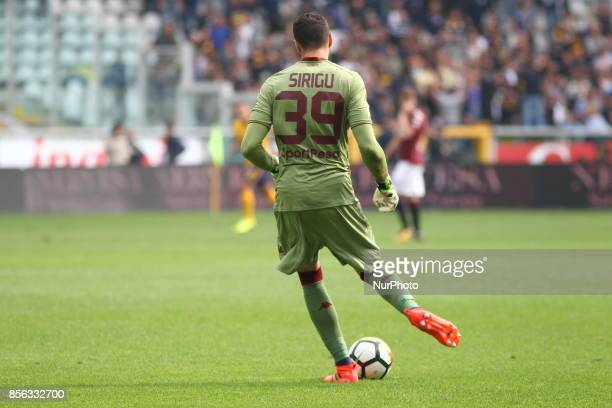 Salvatore Sirigu during the Serie A football match between Torino FC and Hellas Verona FC at Olympic Grande Torino Stadium on 1 October 2017 in Turin...