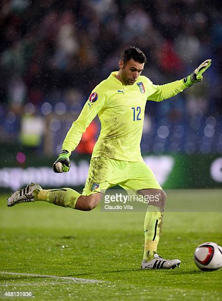 Salvatore Sirigu of Italy during the Euro 2016 Qualifier match between Bulgaria and Italy at Vasil Levski National Stadium on March 28 2015 in Sofia...