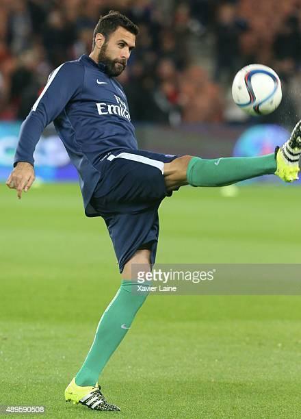 Salvatore Sirigu of Paris SaintGermain during the French Ligue 1 between Paris SaintGermain FC and EA Guingamp at Parc Des Princes on september 22...