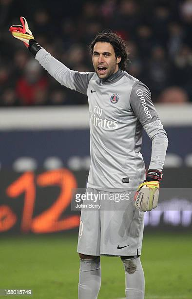 Salvatore Sirigu of PSG during the French Ligue 1 match between Paris Saint Germain FC and Evian Thonon Gaillard FC at the Parc des Princes stadium...