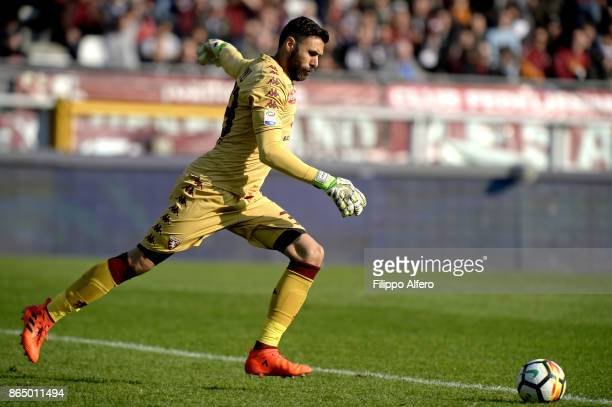 Salvatore Sirigu of Torino during the Serie A match between Torino FC and AS Roma at Stadio Olimpico di Torino on October 22 2017 in Turin Italy