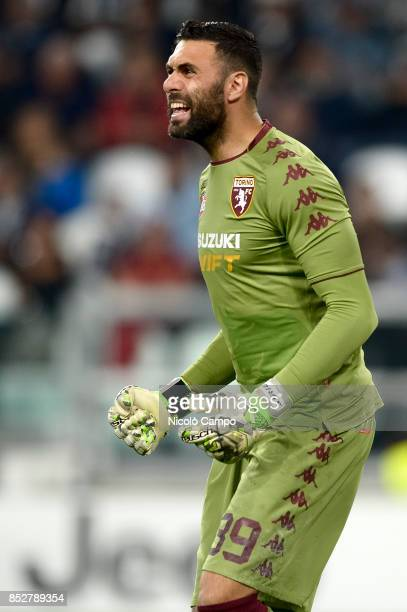 Salvatore Sirigu of Torino FC gestures during the Serie A football match between Juventus FC and Torino FC Juventus FC wins 40 over Torino FC