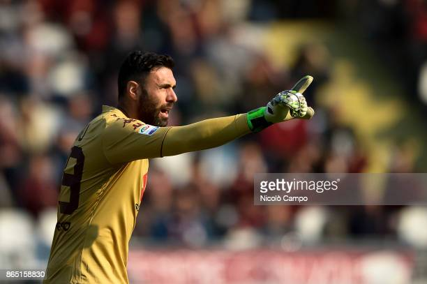 Salvatore Sirigu of Torino FC gestures during the Serie A football match between Torino FC and AS Roma AS Roma won 10 over Torino FC